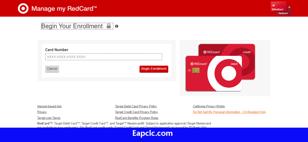 Target Red Credit Card Login